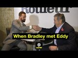 Sir Bradley Wiggins meets Eddy Merckx