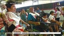 Le sport favorise les rencontres entre jeunes valides et handicapés