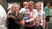 Kim Clijsters and Elise Mertens get up close and personal with some local wildlife at the Australian Open