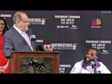 Adrien Broner CURSES OUT! Al Bernstein on LIVE TV!  vs. Manny Pacquiao