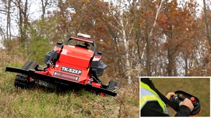 This Remote Controlled Mower Tackles Slopes