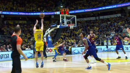 EuroLeague 2018-19 Highlights Regular Season Round 19 video: Maccabi 99-83 Barcelona