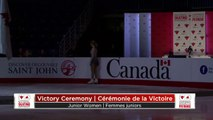 Victory Ceremony:  Junior Women/Femmes