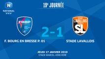 J19 : F. Bourg en Bresse Péronnas 01 - Stade Lavallois (2-1), le résumé I National FFF 2018-2019