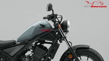 2019 Honda Rebel 300 Pearl Cadet Gray New Color Launched | Mich Motorcycle