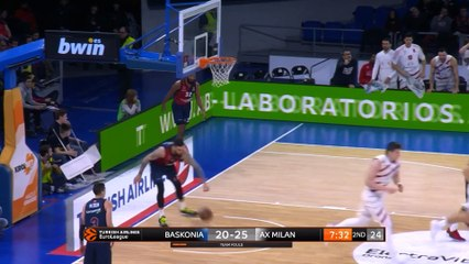 EuroLeague 2018-19 Highlights Regular Season Round 19 video: Baskonia 80-75 AX Milan
