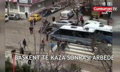 Başkent'te kaza sonrası arbede