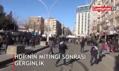HDP'nin mitingi sonrası polis müdahalesi