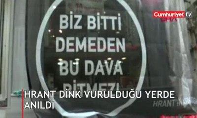 Hrant Dink, katledilişinin 12. yılında vurulduğu yerde anıldı