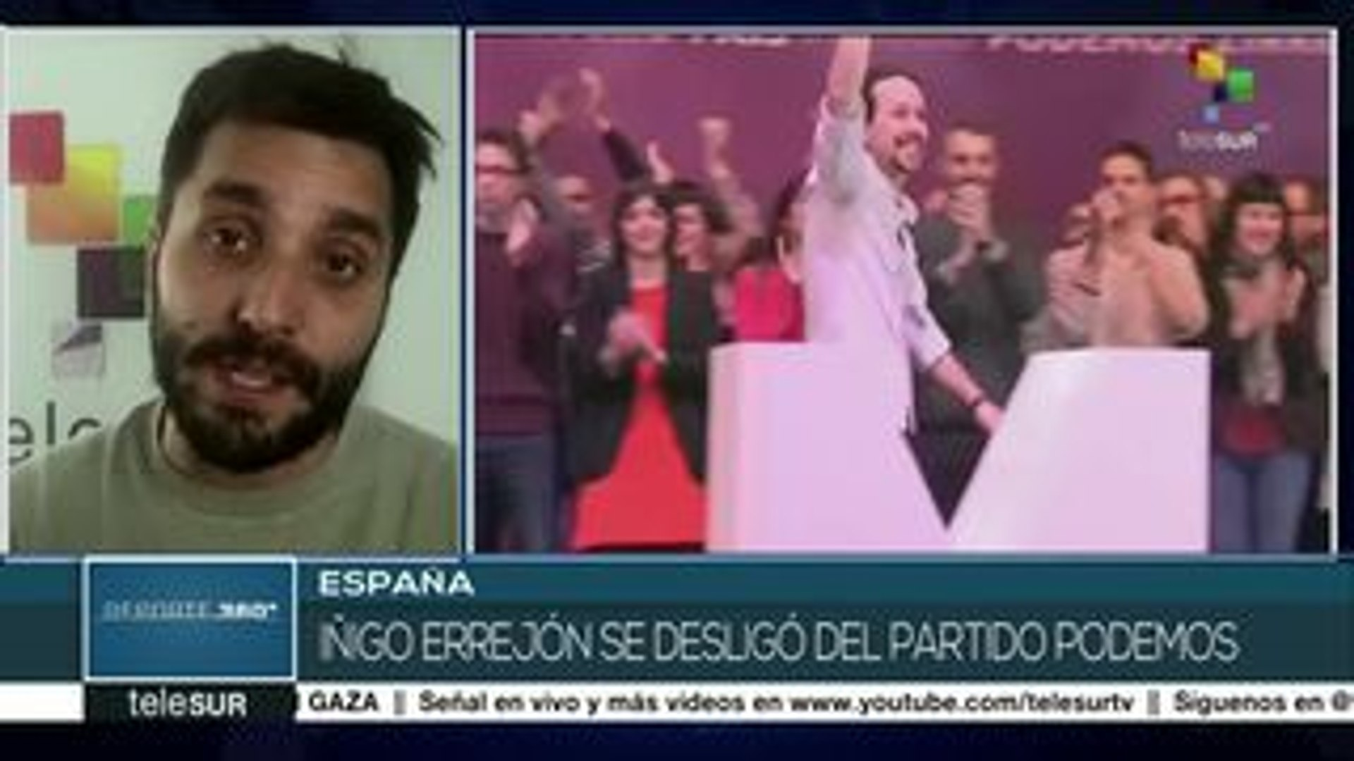 España: Íñigo Errejón se desliga del partido Podemos