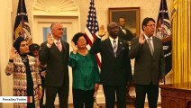 Trump Hosts Swearing-In Ceremony Of 5 New US Citizens In Oval Office