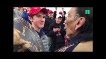 Des jeunes pro-Trump se moquent d'un vétéran amérindien et indignent