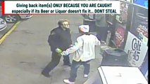 Shoplifter FAIL (2019 Freakout! ) Fight at gas station with cops after caught on camera stealing in this funny gas station public freakout encounters video!