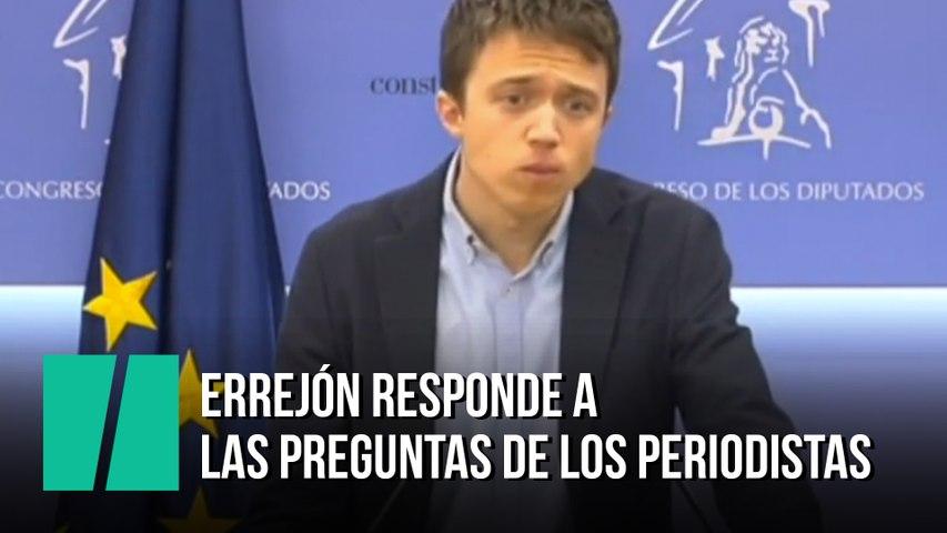Errejón responde a las preguntas de los periodistas