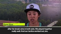 Eng Sub: 'Our tactics worked out' China's Zhang Shuai after triumph in doubles over top seeds