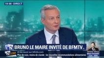 """Bruno Le Maire sur la taxe GAFA : """"On ne peut pas accepter que des PME européennes paient plus"""" que les géant du numérique"""
