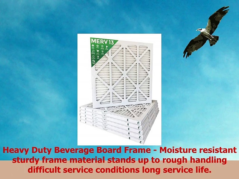 Box of 6 Pleated AC Furnace Air Filters MPR 2200 10x20x1 MERV 13
