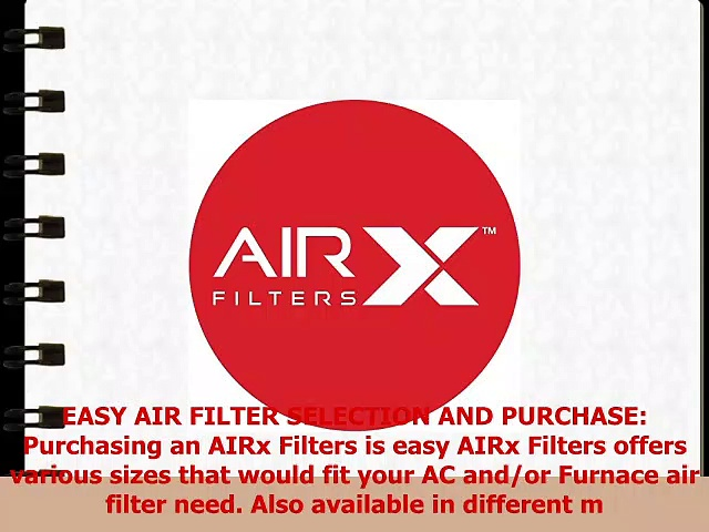 AIRx Filters Allergy 10x20x1 Air Filter MERV 11 AC Furnace Pleated Air Filter Replacement