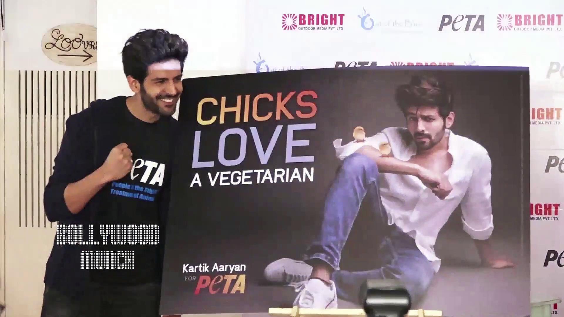 Kartik Aaryan PETA India Launch A New Vegetarian Campaign