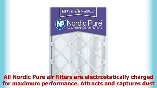 Nordic Pure 20x20x1 MERV 11 Pleated AC Furnace Air Filters 2 Pack