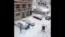 Quand tu dois aller au boulot pendant une tempête de neige...