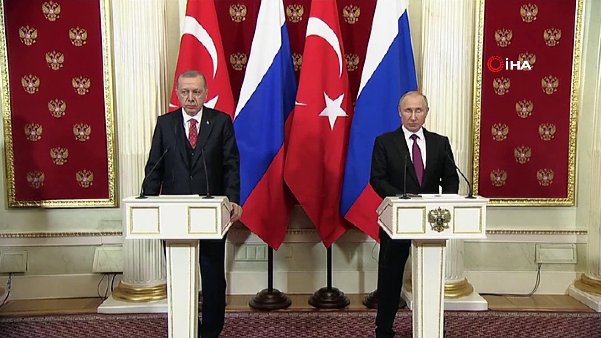 """- Erdoğan-Putin Ortak Basın Toplantısı- Cumhurbaşkanı Recep Tayyip Erdoğan:- """"İdlib'de Terör Ör"""