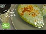 Deliciosos chayotes rellenos con queso | Receta de chayotes rellenos | Eat Green Eat bean