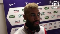 La réaction d'Eric-Maxim Choupo-Moting