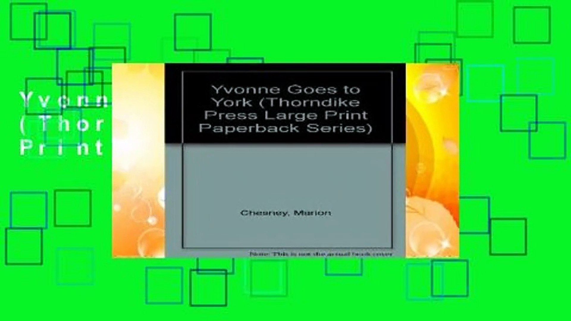 Yvonne Goes to York (Thorndike Press Large Print Paperback Series)