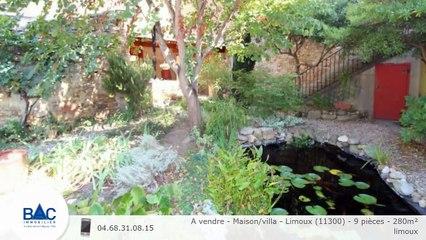 A vendre - Maison/villa - Limoux (11300) - 9 pièces - 280m²