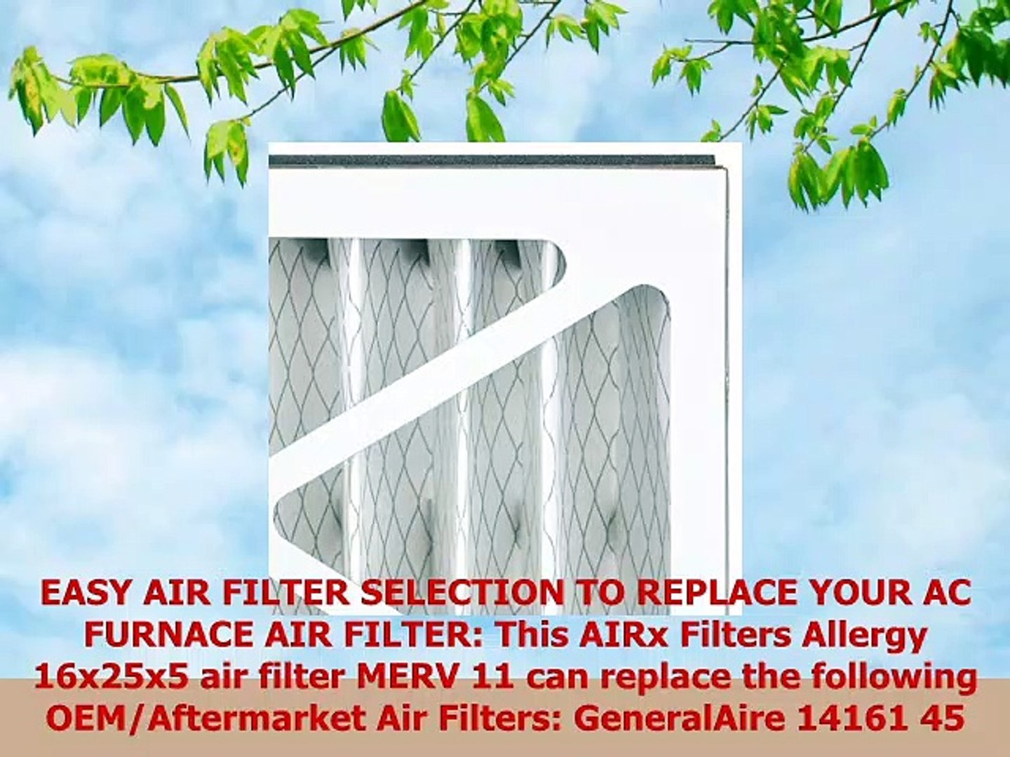 Made in the USA Dust 2-Pack AIRx Filters 16x25x5 MERV 8 HVAC AC Furnace Air Filter Replacement for Lennox X0583 X6670 X6672
