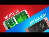 Motorola Moto G6 vs Sony Xperia XA1 [Comparativo]
