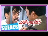 Vaanavil Tamil movie | Scenes |  Arjun escape from jail | Prakash Raj fakes Manivannan's Demise