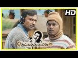 Deiva Thirumagal Tamil movie   scenes   M S Bhaskar misunderstands Vikram and Surekha   Pandi