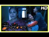 Kanchana Movie Scenes   Raghava cleans the stain   Kovai Sarala hears strange sounds   Muni 2