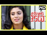 Sathura Adi 3500 Movie Scenes | Title Credits | Akash found hanging in his building | Iniya intro