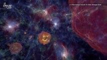 Stunning Simulation Shows Black Holes Form in Halos of Dark Matter