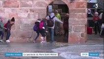 Manche : le spectacle des grandes marées au Mont-Saint-Michel
