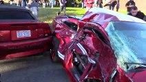 Il détruit sa Shelby GT500 contre un camion... Pas de chance