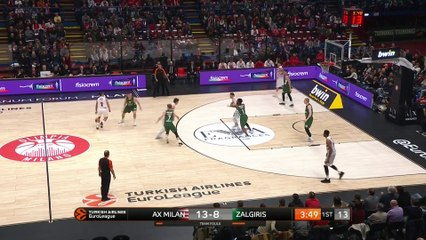 EuroLeague 2018-19 Highlights Regular Season Round 20 video: AX Milan 80-70 Zalgiris
