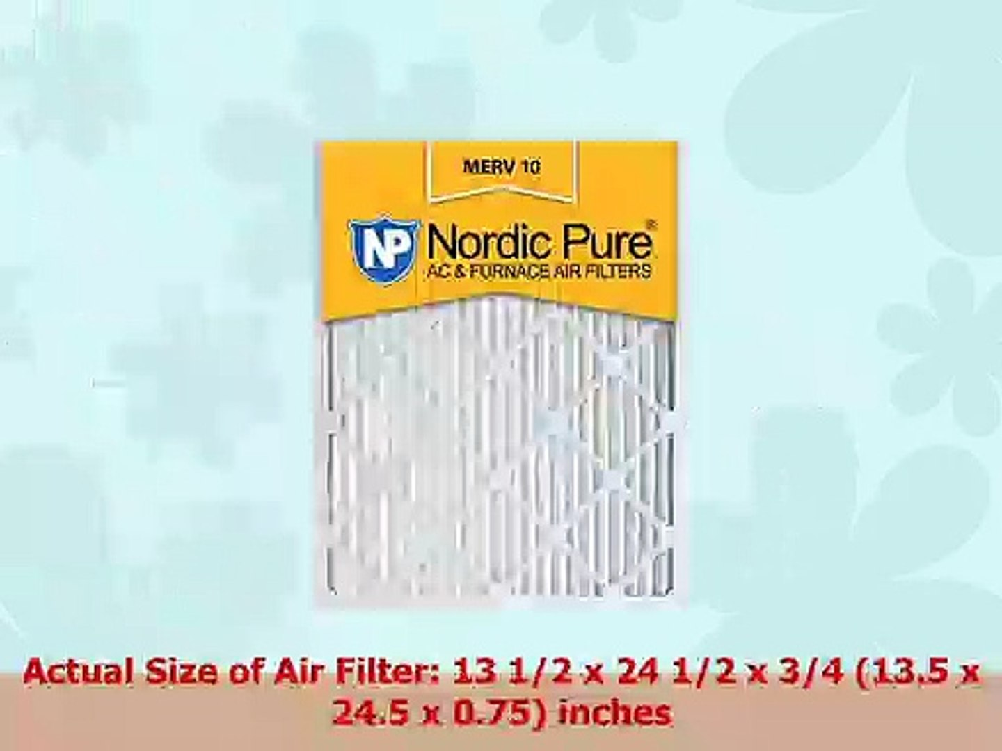 Nordic Pure 13x21x1 Exact MERV 12 Pleated AC Furnace Air Filters 4 Pack