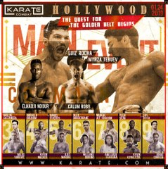 KARATE COMBAT: HOLLYWOOD - Live on Jan. 24, 2019 - 10pm /7pm ET/PT