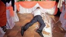 Mariage désastreux : le marié fait tomber le gâteau de mariage