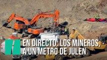 Duodécimo día del rescate de Julen: Los mineros, a menos de un metro del menor