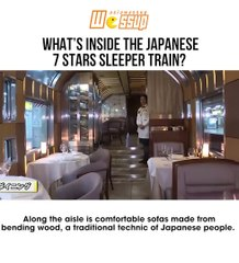 What's inside the Japanese 7 stars sleeper train?