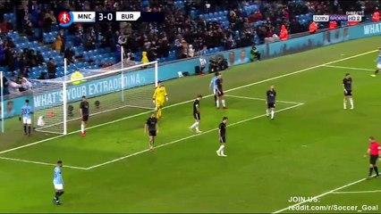 Kevin Long Own Goal HD - Manchester City 4 - 0 Burnley - 26 01 2019