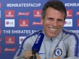 I asked players to crouch down to watch the penalties! - Zola