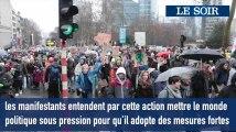 70.000 personnes «plus chaudes que le climat» présentes à la Marche à Bruxelles