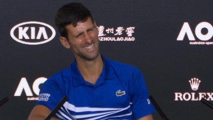 09d78cf00 'Not too bad!' - Australian Open champ Djokovic mimics journalist