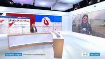 """Paris : première manifestation des """"foulards rouges"""""""